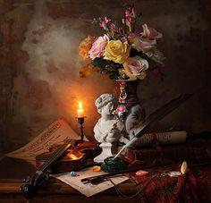 Фотограф Андрей Морозов (Andrey Morozov) - Натюрморт со скрипкой и цветами #1716398. 35PHOTO