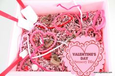 The Sugar Aunts: Valentine's Day Sensory Bin.  Have you tried dyeing shredded paper with food coloring? So easy and imagine all of the crafty uses!