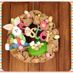 DIY#Easter#wreath#burlap