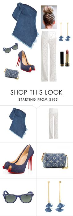 """Spring in Denim"" by kotnourka ❤ liked on Polyvore featuring Marques'Almeida, Serena Bute, Christian Louboutin, Louis Vuitton, Ray-Ban, Ben-Amun and Gucci"