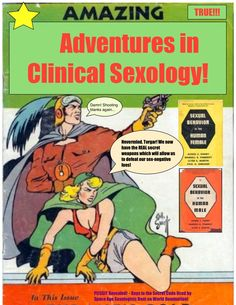 "It's a never-ending battle between the forces of good and the forces of... erm... nevil! (Yes, I said ""nevil""). Watch as intrepid #sexologists clash with sex-negative foes! Email for an appointment: dr.amymarshsexologist@gmail.com"