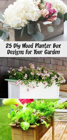 25 Diy Wood Planter Box Designs For Your Garden - Tattoo Diy Wood Planter Box, Planter Box Designs, Planter Boxes, Large Succulent Plants, Planting Succulents, Garden Tattoos, Plant Box, Minimal Tattoo, Tattoo Models