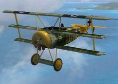 WWII Aircraft, Airplane, Vintage Aviation, Vintage Flights, Planes, Propeller, Decorative Aeronautical Items, Red Barron Triplane, German Fokker/