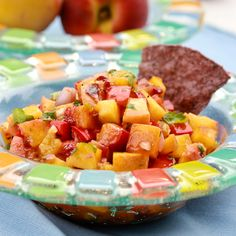 Grilled Peach and Chipotle Salsa via @spicyperspectiv
