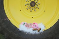 Newborn Photography | John Deere Tractor | M S Photography