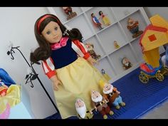 American Girl Doll Disney Snow White Doll and Bedroom ~ Watch in HD! - YouTube