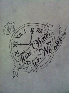 Traditional Camera Tattoos for Women | Time Waits For No One clock tattoo by VinylMcwubbs69 on deviantART