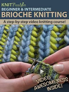 brioche knitting how to, will try soon!