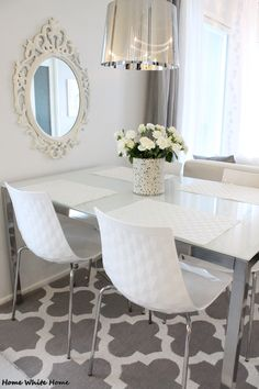 White dining space - Home White Home