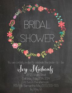 Bridal Shower Invitation---love this!