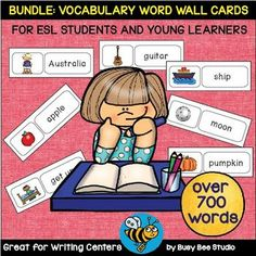 ESL Basic Vocabulary. There're over 700 basic words in this set.Great for Esl Kids and Young Learners! Perfect for Writing Centers!What's included:1. ESL Word Walls: EMOTIONS (19 words) 2. ESL Word Walls: FALL (21 words)3. ESL Word Walls: Transportation (16 words)4.