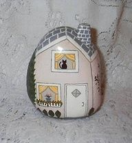 house painted on a rock