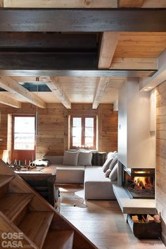 Creative Chalet style of interior decorating ideas Chalet Design, Chalet Style, House Design, Chalet Interior, Home Interior Design, Interior Architecture, Interior And Exterior, Interior Decorating, Sweet Home