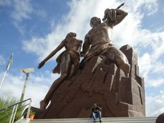 African Renaissance Monument (Collines des Mamelles, Dakar, Senegal) Standing 49 meters in height, the African Renaissance Monument depicts a man and woman, with a child held in the man's left arm (as the child points towards the west). The giant statue, which cost $27 million to build and took four years to complete, attracted much controversy during the building process.
