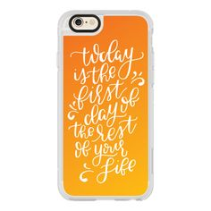 The Rest of Your Life (Sunrise) - iPhone 6s Case,iPhone 6 Case,iPhone... ($40) ❤ liked on Polyvore featuring accessories, tech accessories, iphone case, iphone cases, iphone cover case, clear iphone cases, iphone hard case and apple iphone cases