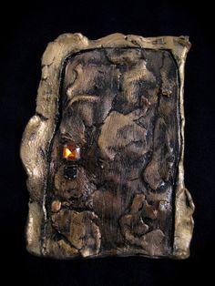 Copper Door Idea Diy Gate, Gnome Door, Under Lock And Key, Old Keys, Fairy Doors, Fairy Houses, Fairy Gardens, Faeries, Dragons