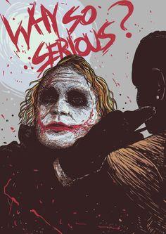 """herochan: """"Why So Serious? Art by Afif Andriansyah """" Joker Pics, Joker Art, Joker Batman, Joker Hd Wallpaper, Joker Wallpapers, Harley Quinn Cosplay, Joker And Harley Quinn, Dc Comics, Heath Ledger Joker"""