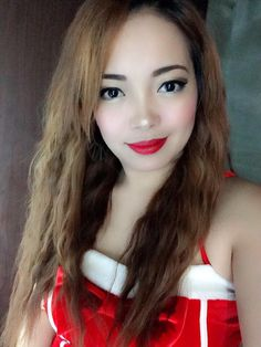 Beautiful Filipina in red with sexy red lipstick #philippines #lady