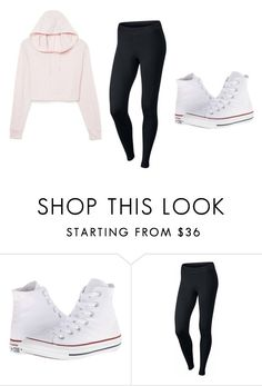"""school"" by pa6739 on Polyvore featuring Converse and NIKE"