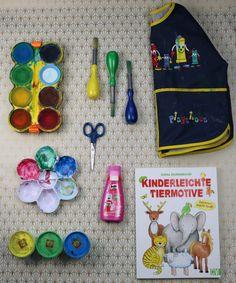 Meine Ausstattung zum kreativen Mlen und Basteln mit Kind: http://gabelschereblog.de/malen-mit-kindern-meine-ausstattung