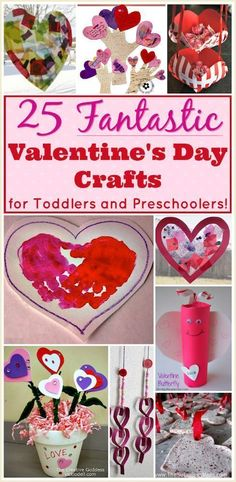 25 easy Valentine crafts for preschoolers and toddlers. These DIY ideas for little kids make great gifts, too!