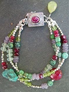 i love everything about this bracelet -- the design, the shapes of the beads and stones, the colors -- everything!!