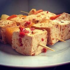 Espetinho de tofu apimentado #vegan #tofu #alimentosparaobemestar