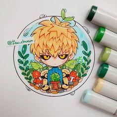 By: [ Ibu_Chuan ] Genos from One Punch Man - This is perfect! Kawaii Chibi, Anime Chibi, Kawaii Anime, Manga Drawing, Manga Art, Anime Art, One Punch Man, Beautiful Drawings, Cute Drawings