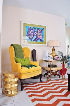 House Tour: An Eclectic, Vintage Designer Digs | Apartment Therapy