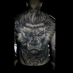 Feather Tattoos, Body Art Tattoos, Hand Tattoos, Full Back Tattoos, Back Tattoos For Guys, Lion Tattoo Sleeves, Sleeve Tattoos, Posiden Tattoo, Avatar Tattoo