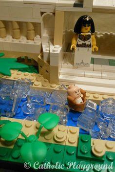 bible lego scene-baby moses