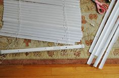 LGN: how to make roman shades out of mini blinds!