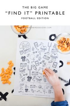 Fun Big Game football printable activity for kids with Goldfish Crackers