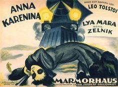 1920 German poster for ANNA KARENINA (Frederik Zelnik, Germany, 1920) Artist: Josef Fenneker (1895-1956) Poster source: filmposter-archiv.de