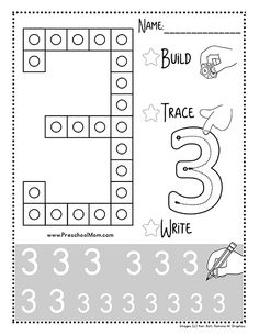 This is a FREE set of snap cube number mats you can print from home. Each mat includes space to build trace and write in the numbers from Preschool Number Worksheets, Teaching Numbers, Numbers Kindergarten, Kindergarten Math Activities, Numbers Preschool, Kindergarten Centers, Math Numbers, Writing Numbers, Preschool Math