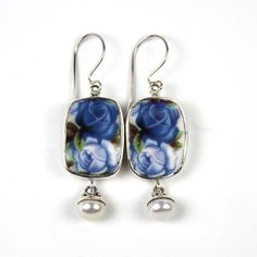 Moonlight Roses-Pearl Earrings