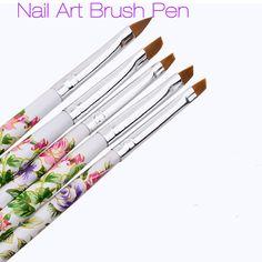 5 pcs Nail Art Decorations Brush Pen Set Tools Painting Pen for False Nail Tips UV Nail Gel Polish 2017 New Sale Beauty Gift