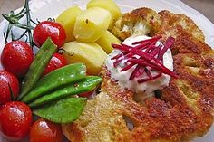 Blumenkohl - Schnitzel, ein raffiniertes Rezept aus der Kategorie Braten. Bewertungen: 98. Durchschnitt: Ø 4,3.
