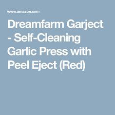 Dreamfarm Garject - Self-Cleaning Garlic Press with Peel Eject (Red)