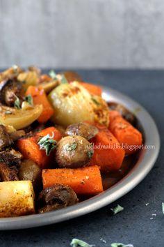 nie-ład mAlutki: Pieczone warzywa z aromatycznymi przyprawami na tłusty czwartek / Czy konsekwencja popłaca?