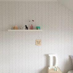 Removable Wallpaper, Herringbone wallpaper, wallpaper, Herringbone, Peel and stick wallpaper, Self adhesive wallpaper, Grey wallpaper by BCMagicWallpaper on Etsy https://www.etsy.com/listing/234607522/removable-wallpaper-herringbone