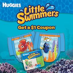 Get a great coupon for HUGGIES® LITTLE SWIMMERS® Disposable Swimpants, while supplies last.