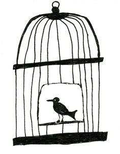 Illustration bird cage