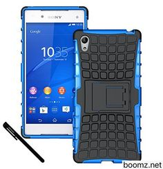 Xperia Z5 Case OEAGO Sony Xperia Z5 Case Cover Accessories  Tough Rugged Dual Layer Protective Case with Kickstand For Sony Xperia Z5 (2015 Released)  Blue