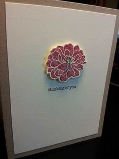 less-is-more-4  Stampin' Up! Thinking of You Card