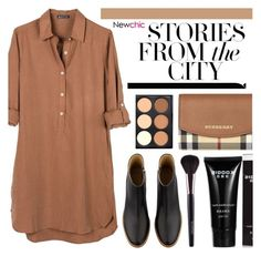 """Newchic 5.30"" by emilypondng ❤ liked on Polyvore featuring United by Blue, A.P.C. and Burberry"