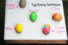 Egg dyeing and drying tips & techniques - Easy but creative techniques for the kids to try