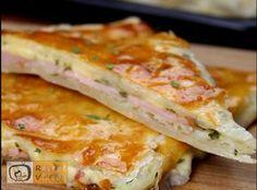 Sonkás-sajtos lepény