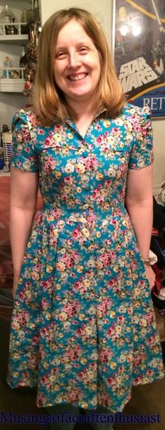 Gertie shirtwaist dress - this whole long semi-sew-along is great to read