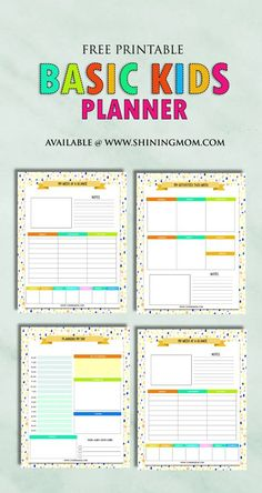 Get this free printable planner for your kids! They'll love to use the fun pages!